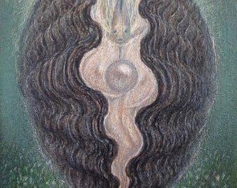 Spirit of the Pearl- original oil painting by Virginia Lee
