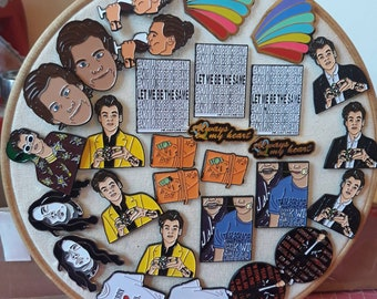Seconds one direction enamel pins