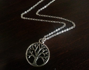 Antique Silver Tree of Life Necklace
