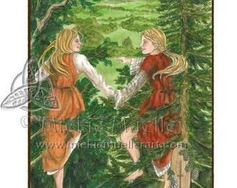 Silverfir/Elm Card Giclee Print