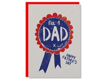 No. 1 Dad Fathers Day card | Best Dad Father's Day card | Recycled card