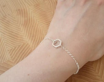 Bracelet Silver Hexagon