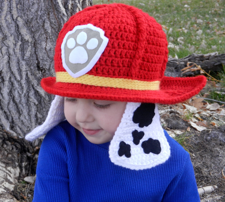 Paw Patrol Marshall Crochet Hat Pattern