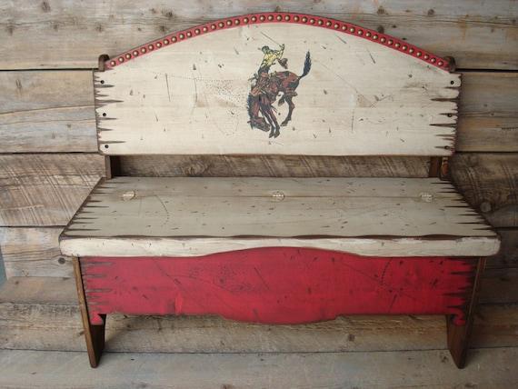 Trunk Bench Storage Bench Western Bench Solid Pine Wood