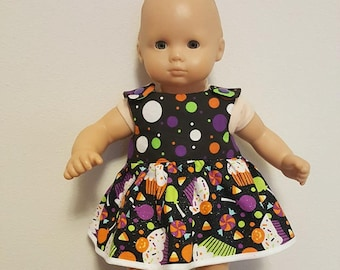 Bitty Baby Bitty Twin Doll Clothes - Halloween Cupcake Dress