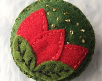 Embroidered Felt Brooch