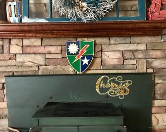 "12"" Army Ranger DUI Crest Shield"