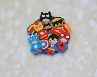 Baby mobile Superhero mobile Baby crib mobile Super hero mobile Marvel Mobile Avengers mobile Batman mobile Spiderman mobile felt cot mobile