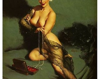 Vintage 1950's Pin Up Girl Poster 63 A3 Print
