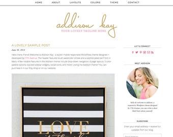 "Blogger Template Premade Blog Design - ""Addison"" Blogger Theme"