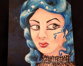 Signed Art Prints- Five WIshes 5x7 inches Surreal Fantasy Lowbrow Art