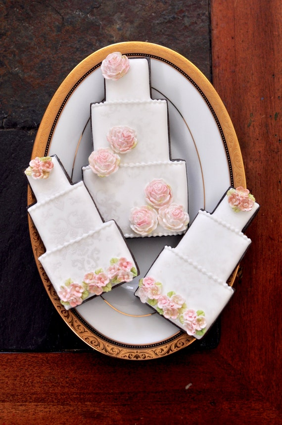 Wedding Cake Cookie-1 Dozen-Wedding Favors, Anniversary, Retirement,  Birthday