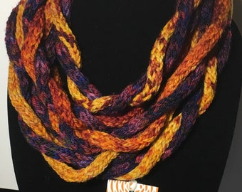 Sunrise and sunset pure merino hand dyed scarf