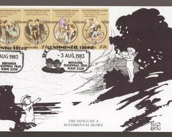 Australian Folklore Sentimental Bloke C.J Dennis 1980 Australia Maxi Card