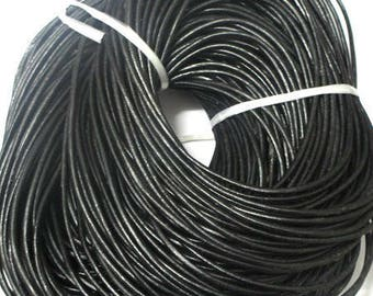 3 m black 3mm leather cord