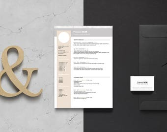 RESUME template & letter word