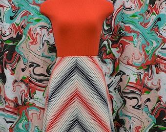 1960's mod chevron skirt
