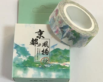 Japanese Masking Tape - Castle Design Tape - Masking Tape - Decorative Tape - Gift Wrapping Tape - Scrapbooking Tape - Japanese Tape