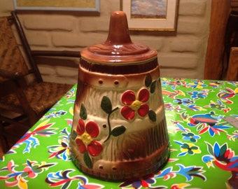 Vintage American Bisque butter churn cookie jar