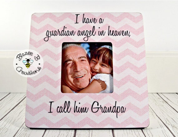 ON SALE Memorial Picture Frame for Grandpa. Grandfather Memorial, I ...