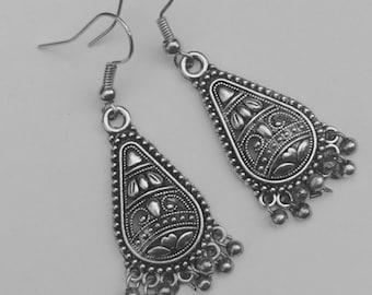 Tribal earrings Silver earrings Bohemian earrings • • • earrings gypsy earrings ethnic earrings