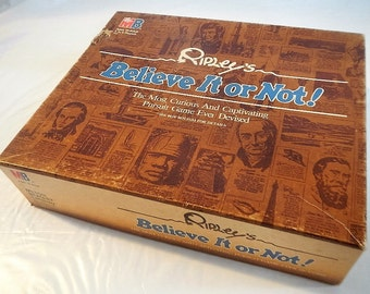 Vintage Ripley's Believe It or Not! Game - board game -1984 -Milton Bradley, #4401, trivia, party game, game night, adult game, truth or lie