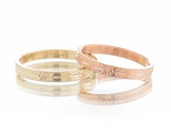 Wedding bands, Wedding bands set, 18K wedding rings, His & hers wedding bands, Yellow gold ring, Rose gold wedding band, White gold ring