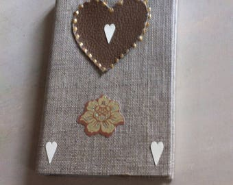 notebook with pen decor linen coated