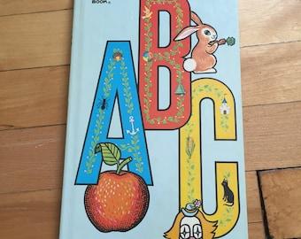 Vintage 1960s ABC Alphabet Golden Sturdy Children's Board Book!