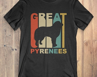 Great Pyrenees Dog T-Shirt Gift: Vintage Style Great Pyrenees Silhouette