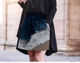 Ocean Blue Cupro Skirt