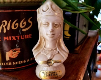 Vintage Garnier Creme de Menthe Decanter