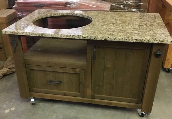 Exceptional Grill Table / Cabinet For Big Green Egg Kamado Joe Primo U0026