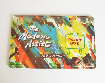 Vintage Modern Artist Water Color Paint Box