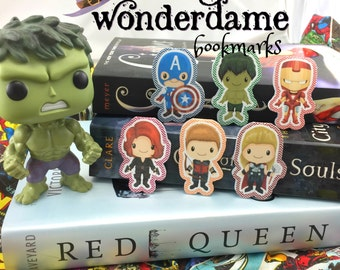 Avengers Inspired Bookmarks