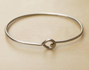 Silver Hoop Bicycle Spoke Bracelet