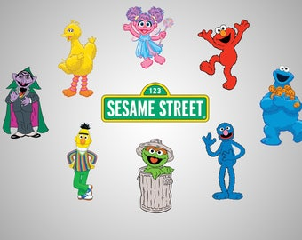 Sesame Street Characters Decals - Vinyl Decals - SVG file - Sesame street Clipart - Printable - Scalable - Vectorial image
