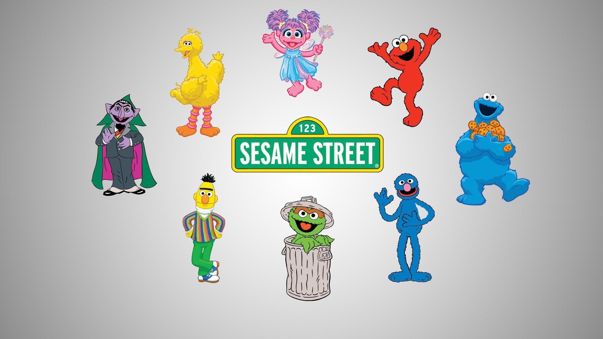 Sesame Street Characters Decals Vinyl Decals SVG file