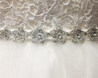 Bridal belt, wedding belt, Strassgürtel 1004