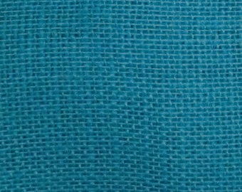 "47""- 48"" Inch Bahama Turquoise Colored Burlap By The Yard"