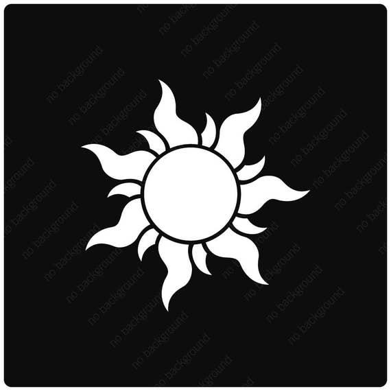 Tangled Sun Symbol Vinyl Decal Sticker Rapunzel Lantern
