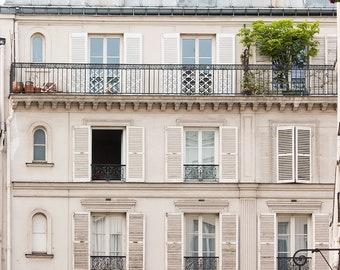 Paris Photography, The First Day of Spring, Parisian Windows, Right Bank Paris, Paris Wall Art, Rebecca Plotnick, Paris Print