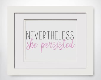 Nevertheless She Persisted|Boss Gifts For Her|Decor For Cubicle|Feminist Quote|Gift For Boss Woman|Gift For Lady Boss Gift For Girl Boss