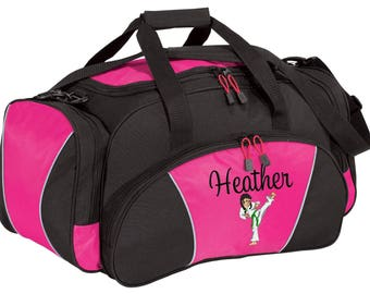 Personalized Karate Duffle Bag Martial Arts Competition Monogrammed Duffel