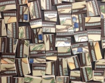 patterned mosaic tiles 80 pcs-broken plate ceramic tile- pique assiette-id*113