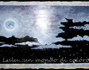 MOONLIGHT oil on wood original paintings