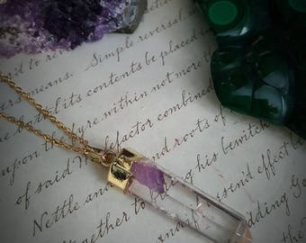 Geode Necklace - Raw Crystals and Gemstones -  Healing Crystal Necklace - Healing Jewelry - Metaphysical Jewelry - Witch
