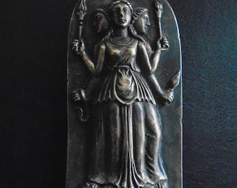 Hecate Goddess/ Bronze Metal/ Hekate Statue/ Hekate Altar/ Bronze Art