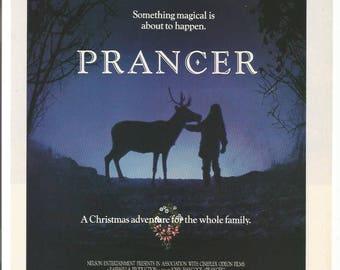 1989 Advertisement Prancer Movie Christmas Adventure For The Whole Family Reindeer Sam Elliot Cloris Leachman Abe Vigoda Wall Art Decor