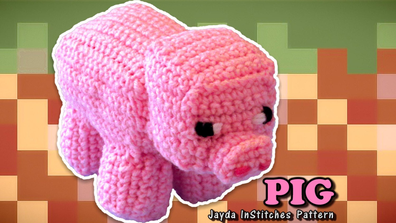 Crochet Video Game Pig Plush Pattern PDF Written